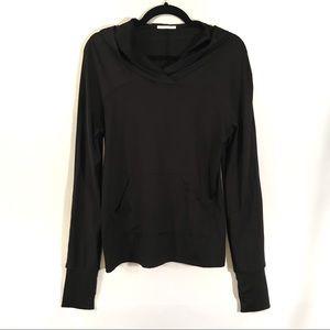 Zara Black Hooded Long Sleeve Pullover Top